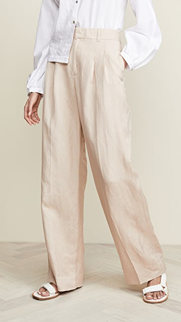 The Script Sophie Pleated Wide Leg Pants