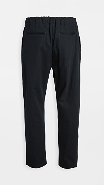 The Silted Company Japanese Canvas Raw Hem Coffin Pants