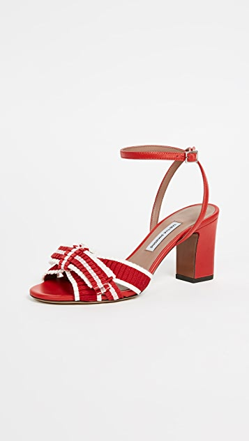 Tabitha Simmons Sabby Strappy Pumps - Red/White