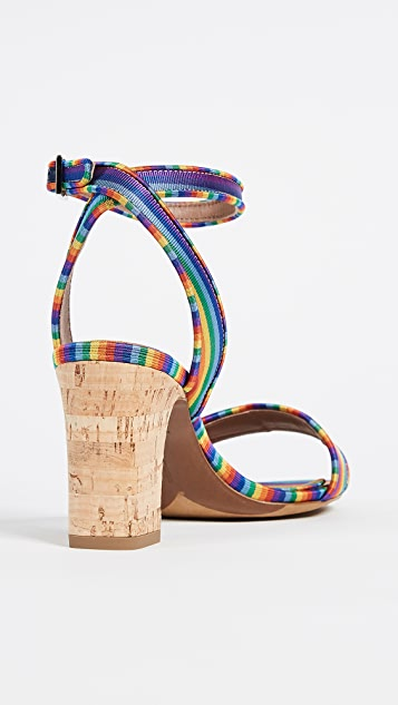 Tabitha Simmons Rainbow Sandal Pumps