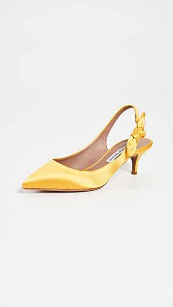 Tabitha Simmons Rise Bow Slingback Pumps - Yellow
