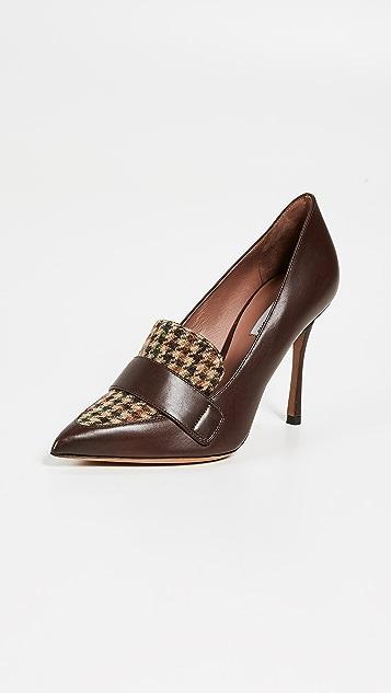 Tabitha Simmons Комбинированные туфли-лодочки из твида Caspian
