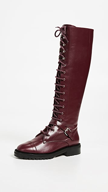 aebfb6f99cc Tabitha Simmons Alfri Knee High Lace Up Boots