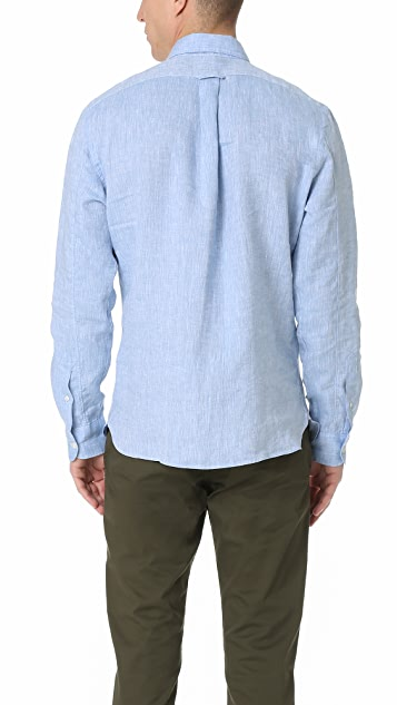 Todd Snyder Long Sleeve Linen Two Pocket Shirt