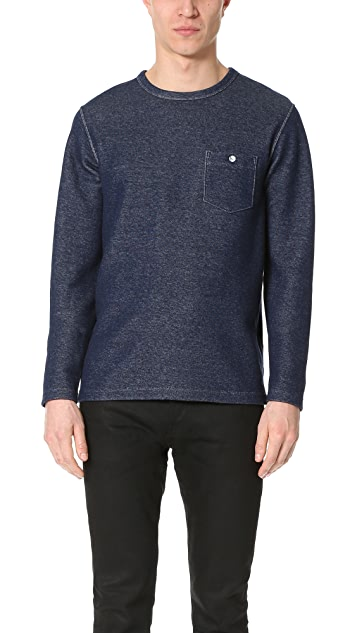 Todd Snyder Long Sleeve Crew Neck Sweatshirt with Pocket
