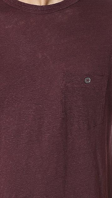 Todd Snyder Linen Jersey Button Pocket Tee