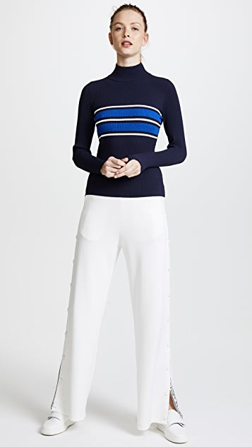 Tory Sport Tech Knit Ribbed Sweater