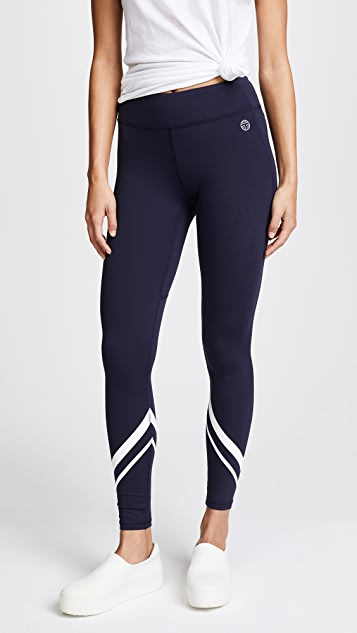 Tory Sport Chevron Full Length Leggings