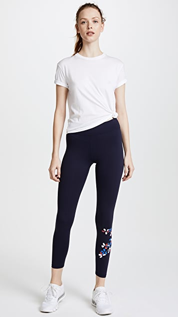 Tory Sport Reflective Print Graphic Leggings
