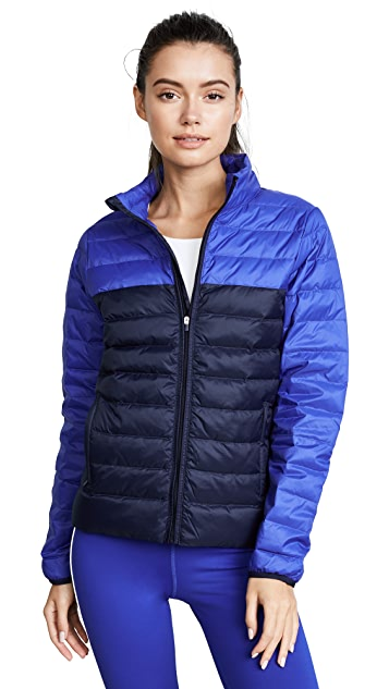 Tory Sport Colorblock Packable Down Jacket