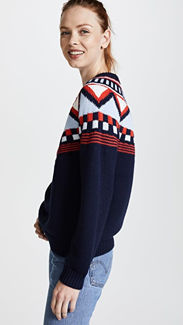 Tory Sport Performance Merino Fairisle Sweater