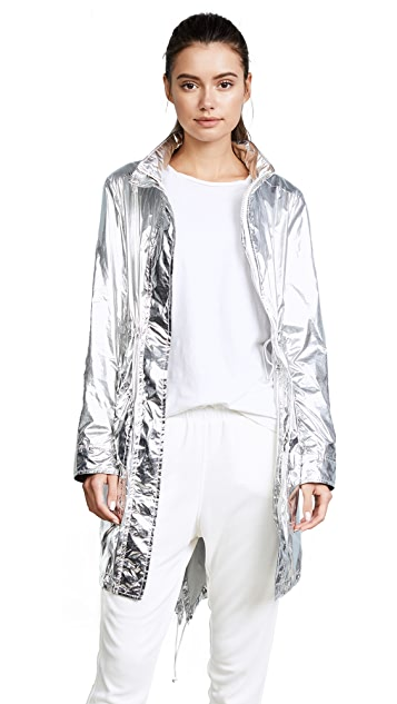 Tory Sport Metallic Nylon Coat