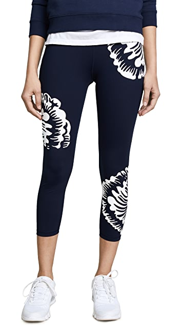 Tory Sport Soho Floral Reflective Cropped Leggings