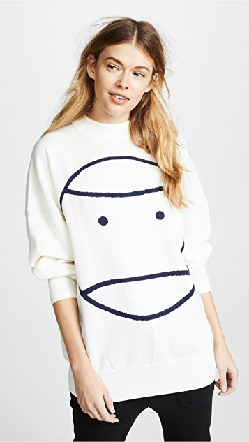 Tory Sport Performance Oversized Sweater - Snow White