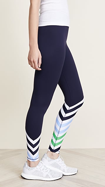 Tory Sport Diagonal Stripe Leggings