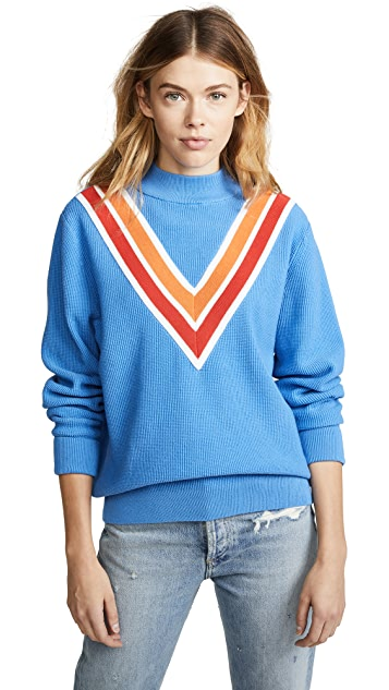 Tory Sport Performance Chevron Sweater