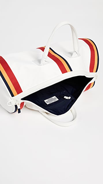 Tory Sport Retro Striped Weekender Duffel Bag