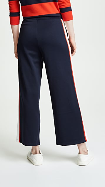 Tory Sport Wide Leg Cropped Track Pants