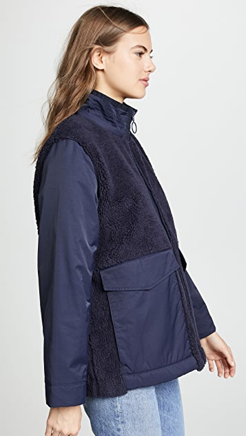 Tory Sport Sherpa Hooded Jacket