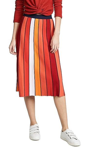 Tory Sport Vertical Striped Skirt