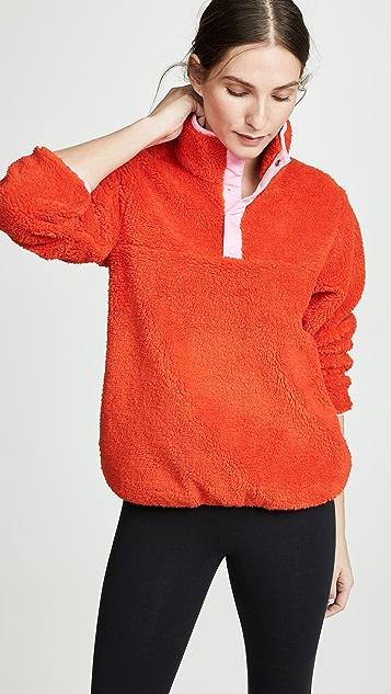 Tory Sport Sherpa Fleece Pullover