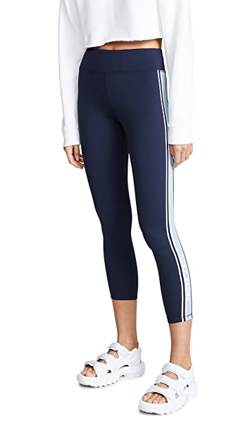 Tory Sport Knit Tape 7/8 Leggings