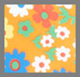 Ritzy Floral Vibrant Orange
