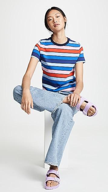 Tory Sport Полосатая футболка с короткими рукавами