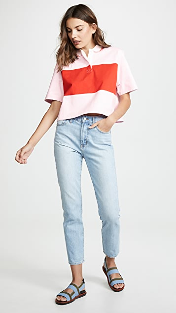 Tory Sport T-shirts Cropped Collared T-Shirt