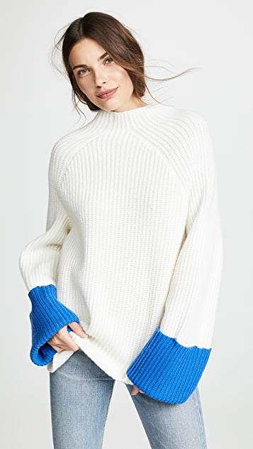 Tory Sport Ribbed Wool Sweater