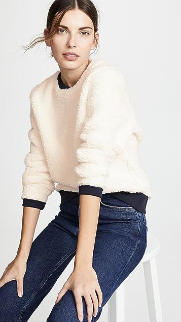 Tory Sport Пуловер с отделкой из искусственного меха