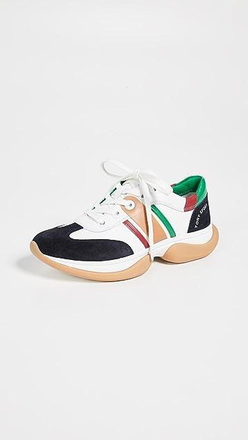Tory Sport 条纹系带运动鞋