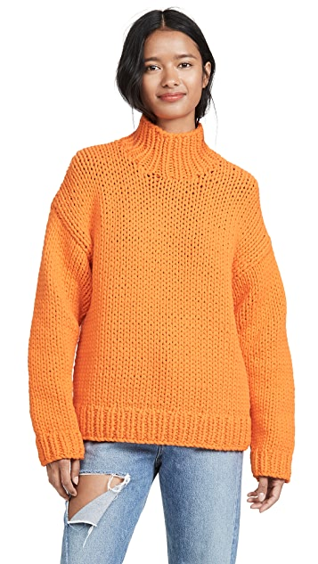Tory Sport Oversized Chunky Hand Knit Sweater