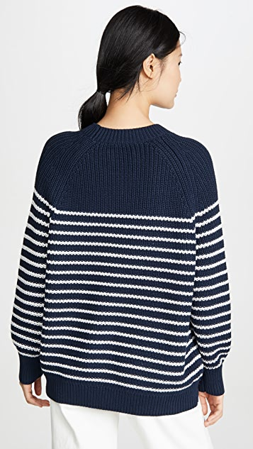 Tory Sport Performance Cotton Striped Sweater