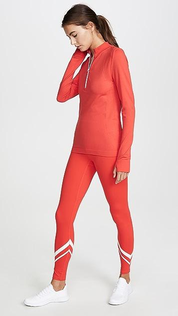 Tory Sport Seamless Quarter Zip Pullover