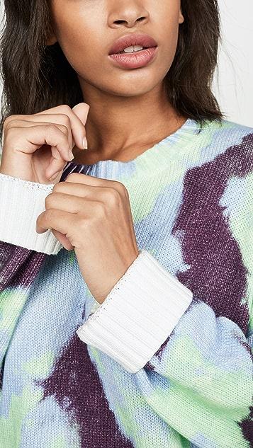 Tory Sport Хлопковый свитер в технике узелкового батика