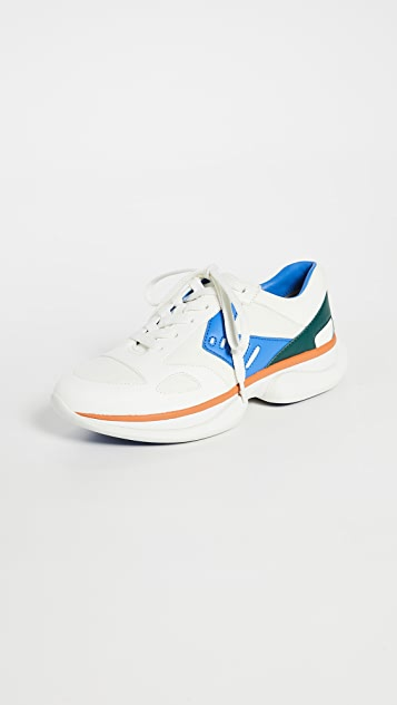 Tory Sport Sneakers Bubble Lace Up Sneakers