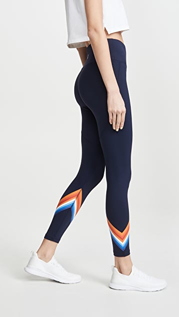 Tory Sport Tempo Chevron Leggings