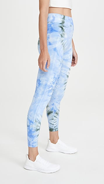 Tory Sport Seamless Tie Dye Chevron Leggings