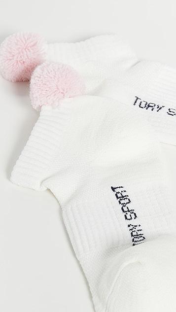 Tory Sport Спортивные компрессионные носки с помпонами