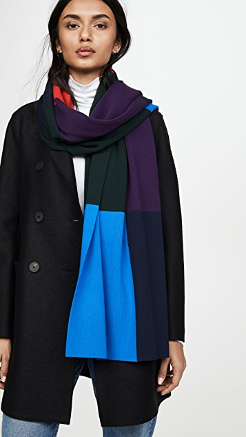 Tory Sport Ribbed Block Scarf