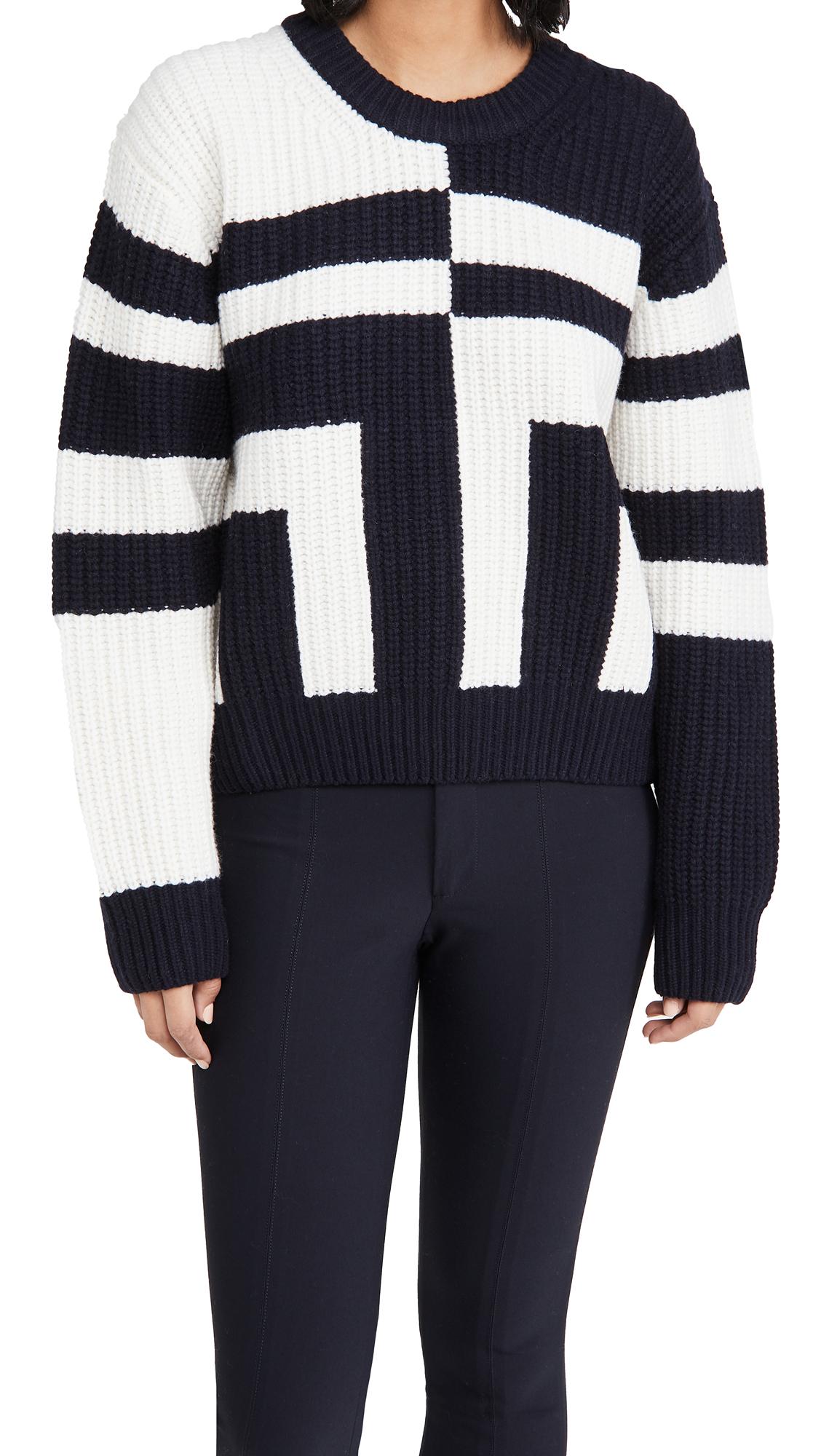 Tory Sport Ribbed Merino T Sweater