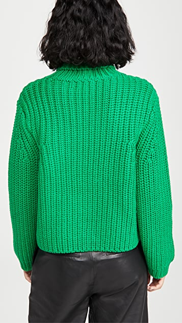 Tory Sport Merino Chevron Turtleneck Sweater