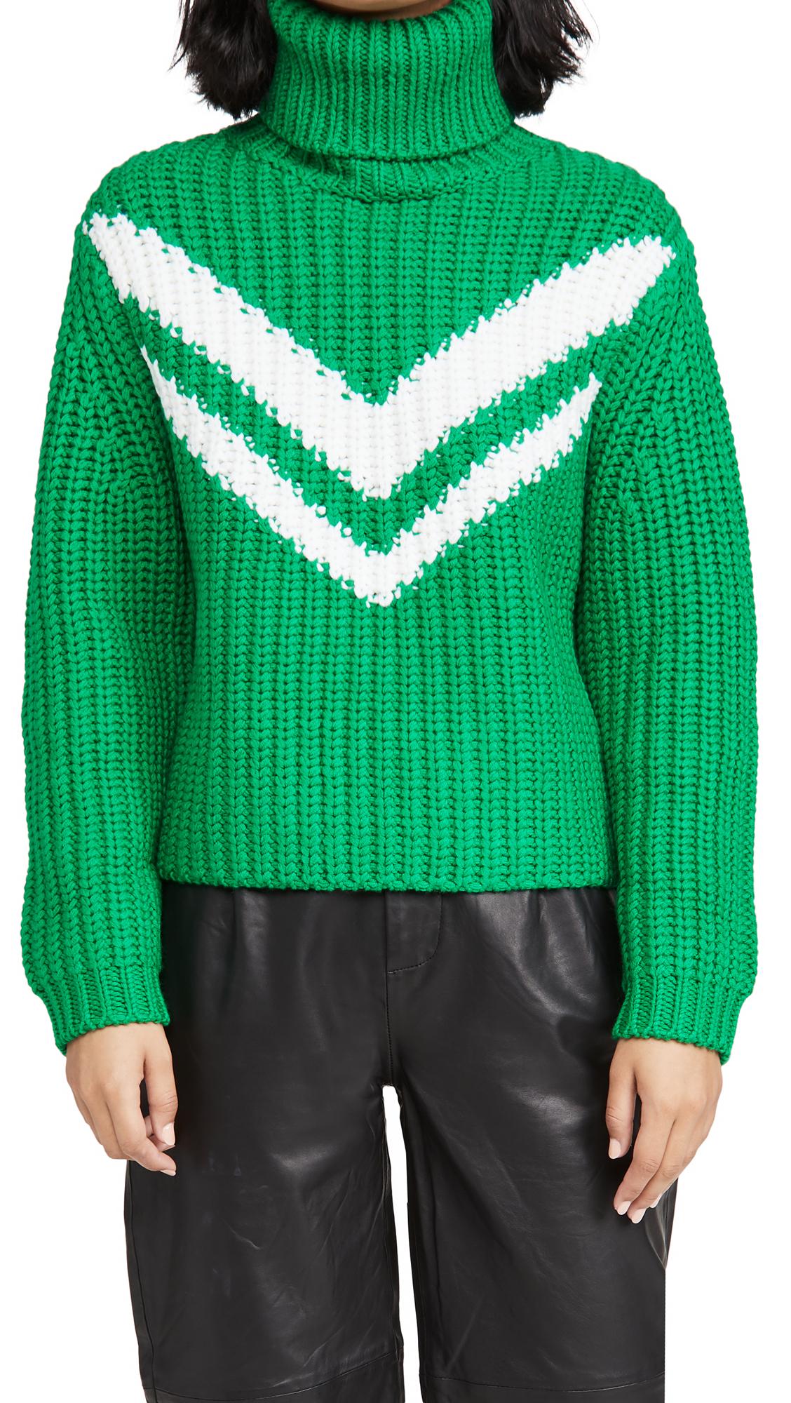 Tory Sport Merino Chevron Turtleneck Sweater