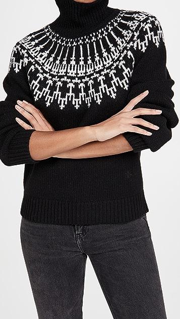 Tory Sport Merino Fair Isle Sweater