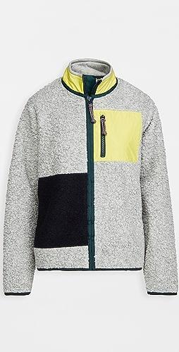 Tory Sport - Sherpa Fleece Colorblock Jacket