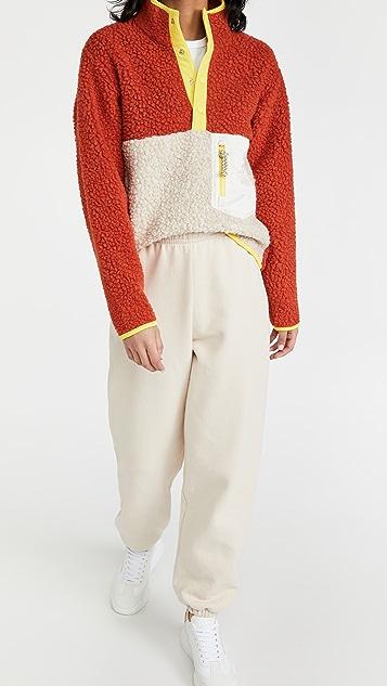 Tory Sport 羊毛绒布套头夹克