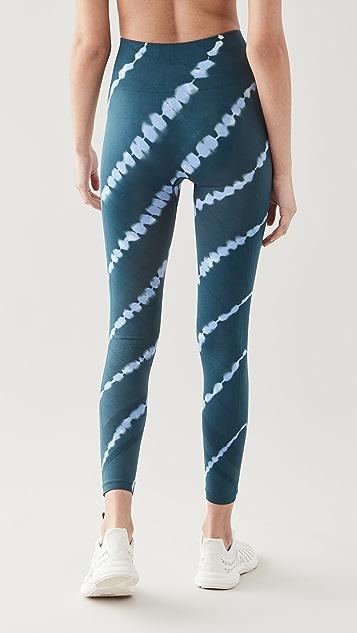 Tory Sport High Rise Seamless Tie Dye 7/8 Leggings