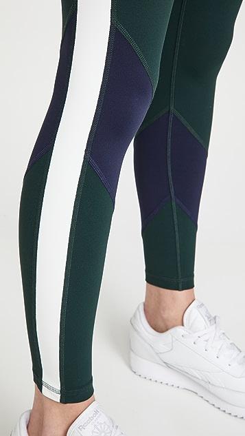 Tory Sport 超高腰轻盈撞色贴腿裤
