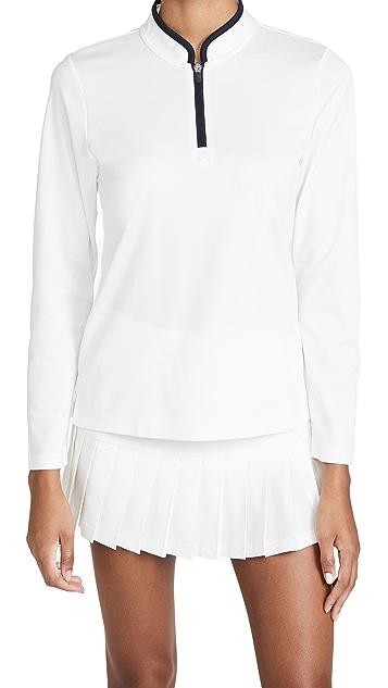 Tory Sport 高性能半长拉链系扣套头衫